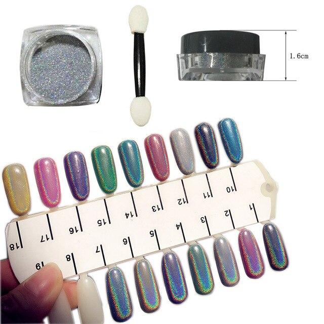 New nail art pigment Powder Chrome Rainbow Shiny Nail Glitters Nail ...