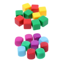 10pcs 16mm Blank Dice Acrylic Hexahedron DIY Write Painting GameTeaching Dices