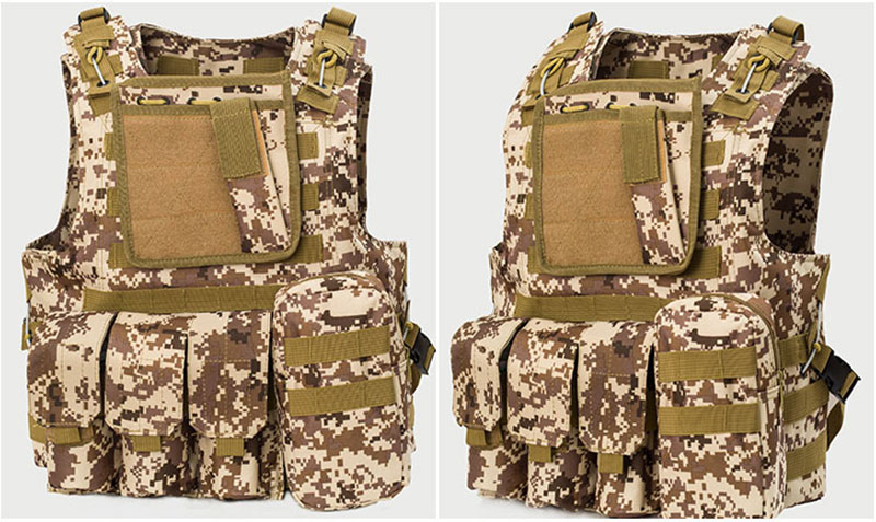 Tactical vest USMC Airsoft Tactical Military Molle Combat Assault Plate Carrier Vest  13 Colors CS clothing Professional sales