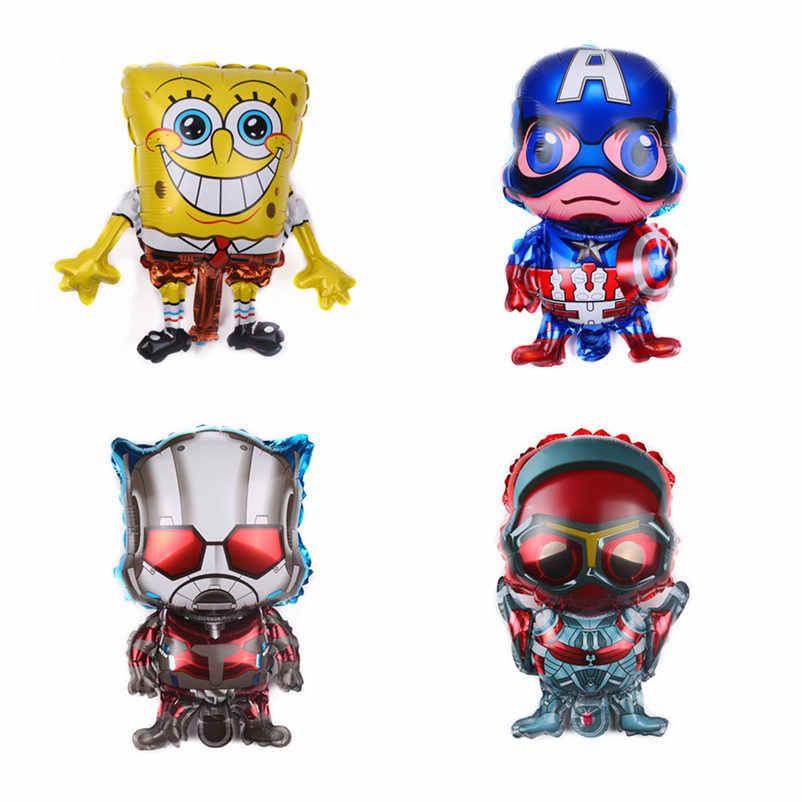 Tszwj novo mini desenhos animados superman balões de alumínio festa das crianças festival decoração brinquedos alta qualidade