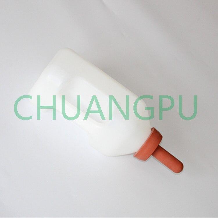 2Liter Penis Shape Baby Calf Plastic Feeding Bottle with Nipple for Feeding Liquid to Little Animal