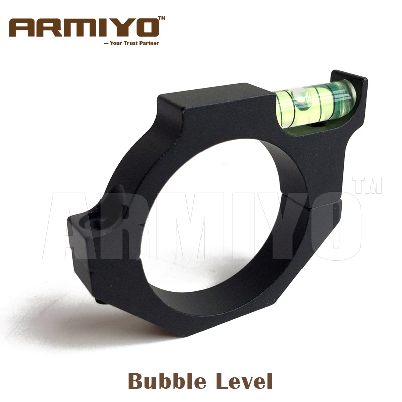 Armiyo 25.4mm / 30mm Alloy Riflescope Tube Bubble Level Tactical Spirit Level Hunting Shooting Accessories