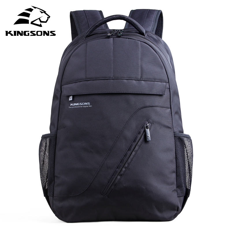 Kingsons Brand Laptop Backpack Black Men Bagpack Women Classic  Mochila Bag  Boy's Rucksack School Bags For Teenagers