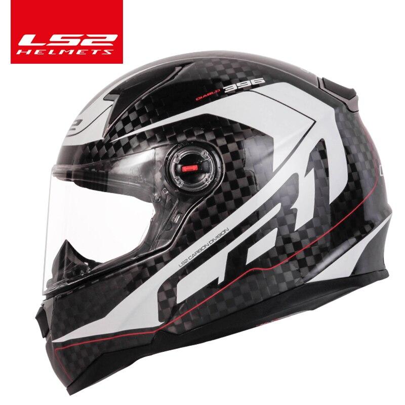 LS2 FF396 12 K fibre de carbone moto rcycle casque intégral LS2 CT2 nouveau design casques casco casque moto pas d'airbags pompe ECE