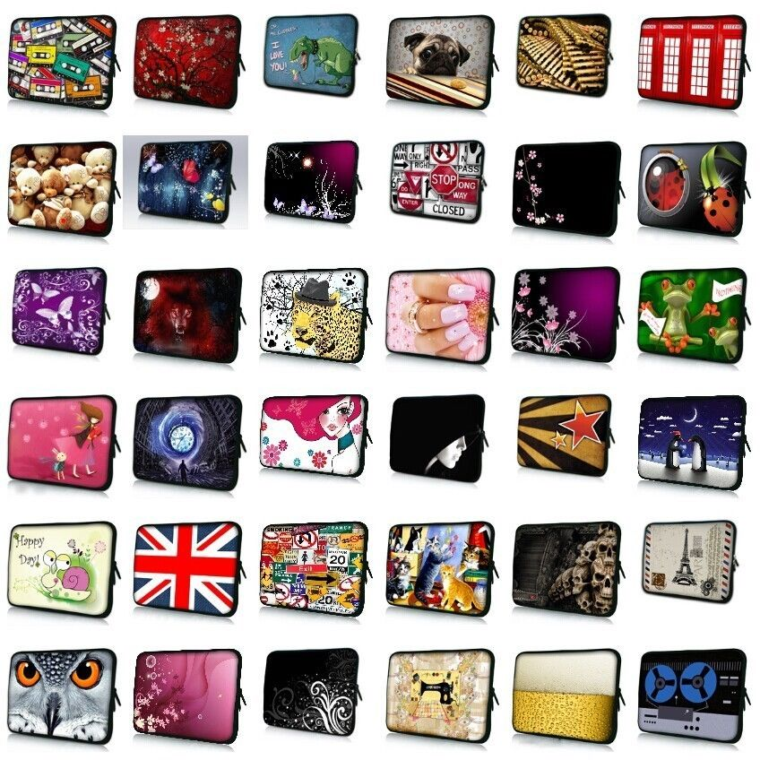 7 10 12 13 13.3 14.4 15.6 17.3 inch Handle Laptop Sleeve Bag Notebook Smart Cover Case PC Handbag For Macbook Air/Pro/Retina #F