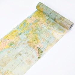 200 мм Античная Карта винтажные путешествия по всему миру украшения планировщик васи лента для самостоятельного изготовления Скрапбукинг М...