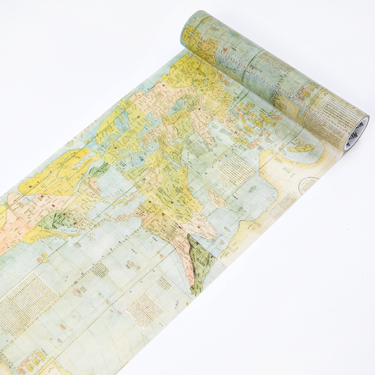 200mm Antique Map Vintage Travel Around The World Decoration Planner Washi Tape DIY Handcraft Scrapbooking Masking Tape Escolar
