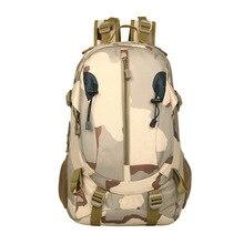 Купить с кэшбэком Brand Military Laptop Backpack Men Waterproof School Shoulder Bag Men 40L Camouflage Travel Bags Rucksack