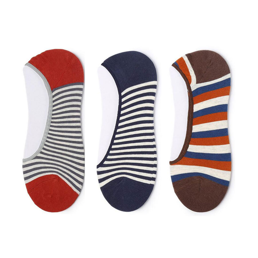 Men Sock Slippers Cute Cartoon Stripe Male Invisible Socks Cotton Shallow Mouth Ankle non-slip Boat Socks For Men Accessories