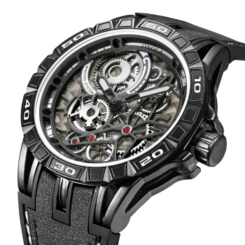 ONOLA Men's Unique Design Limited Military Black Mechanical Waterproof Japan Movement Quartz Watches