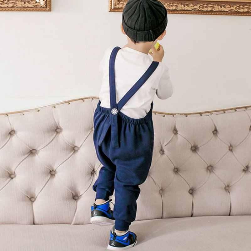 8b24107128dd ... Cute Toddler Kids Girl Boy Overalls Baggy Harem Pants One Piece Romper  Jumpsuit ...