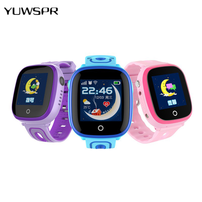 Watch Baby Tracker Location Position-Finder Clock Children Waterproof Kids Safe DF31G