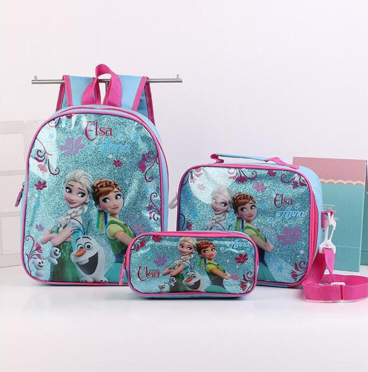 New Cartoon School Backpack For Kids Snow Queen Students In School Bags Children Backpacks Mochila Infantil