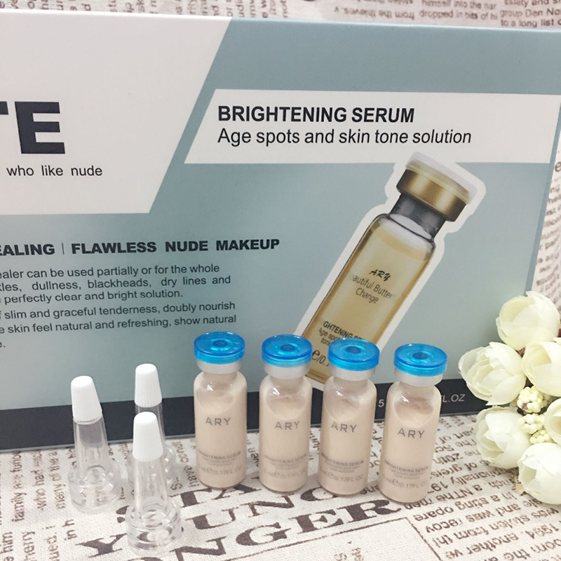 10 bottles 5ml BB Glow Cream Meso White Brightening Serum Natural Nude Make Up Foundation face makeup beauty cream