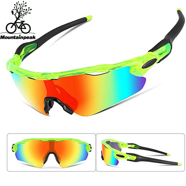 c0ea072be7d MTP Five lenses Full Coating Cycling Glasses Mountain Bike Goggles  Polarized Bike Eyewear Bicycle Outdoor Sport Sunglasses