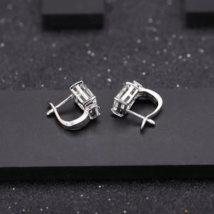Image 5 - Gems Ballet 925 Sterling Zilveren Sieraden Set Voor Vrouwen Natuurlijke Octagon Groene Amethist Oorbellen Ring Hanger Set Fijne Sieraden