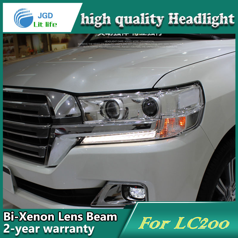 Car Styling Head Lamp case for Toyota LAND CRUISER LC200 2016 LED Headlights DRL Daytime Running Light Bi-Xenon HID Accessories smarty для toyota lc 200