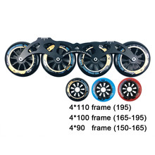 Cityrun Inline Roller Skates Base 4*90/100/110mm Frame & 85A Wheels & Bearings for Speed Skating for Adult Kids Skates Boots XX1