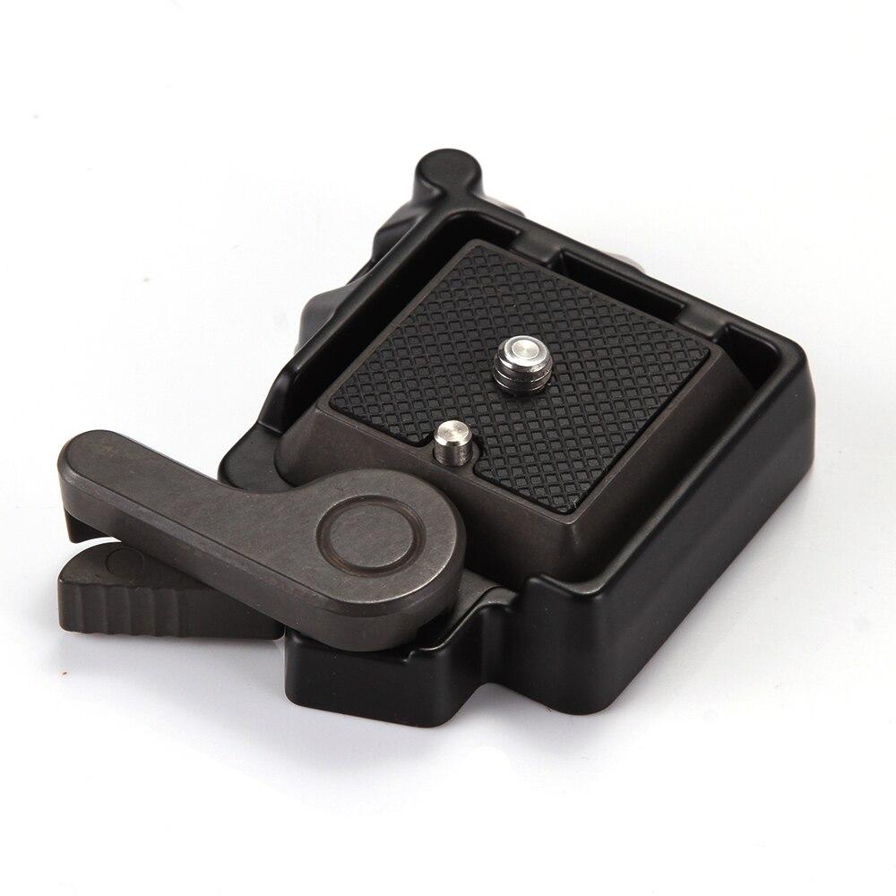 QR Quick Release Clamp Adaptateur Plaque de Montage pour Manfrotto Trépied Rotule Arca Benro