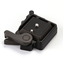 QR Quick Release Clamp Adapter Plate Mount Fr Monpod Tripod Ball Head Arca Benro