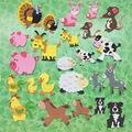 24 PCS/LOT. Cute animal de Fazenda adesivos de espuma, Crianças DIY toy. Scrapbooking kit. Early educacional DIY. kindergarten crafts. itens de Atividade.