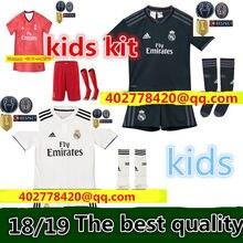95acb544a Junge kind 2018 2019 REAL MADRID jersey 18 19 WEG fußball camisetas RONALDO  BALE BENZEMA Thai AAA FUßBALL shirt Fußball jersey