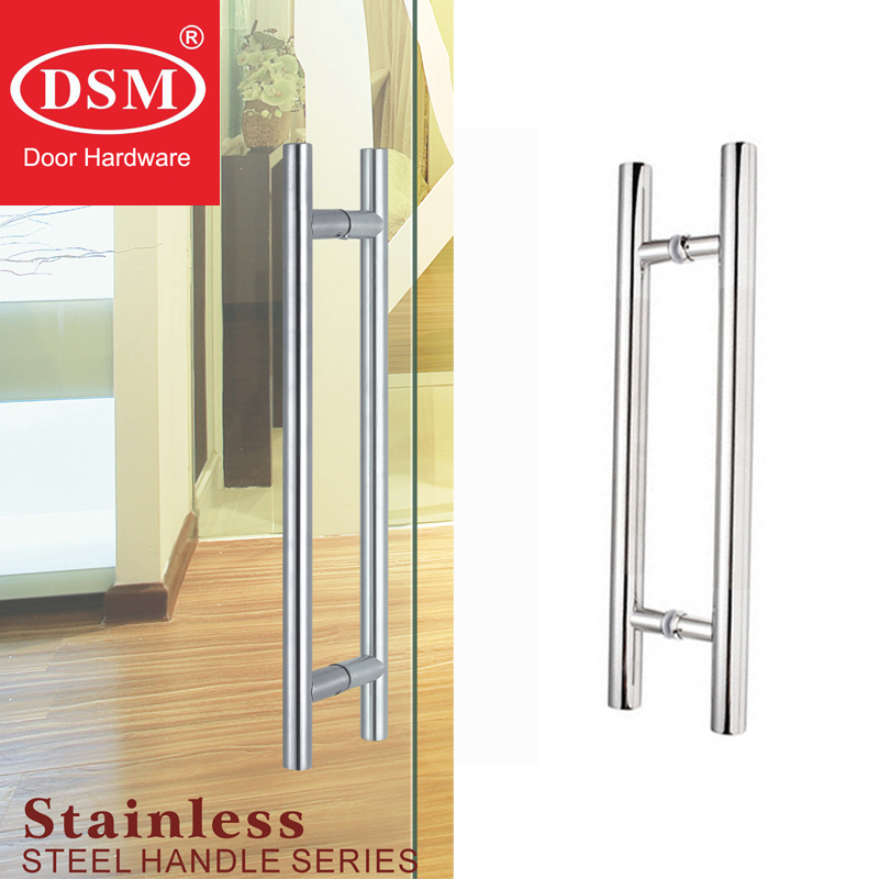 304 Grade Stainless Steel Door Pull Handle For Entrance/Entry/Glass/Shop/Store Interior/Exterior Barn&Gates PA-102 antimicrobial environmental wood pull handle pa 710 entrance door handles for entry glass shop store doors