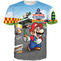 Персонаж Супер Марио футболка мультфильм kawaii смазливая Футболка женщины мужчины coloful топы brand clothing модные футболки camisa Alisister
