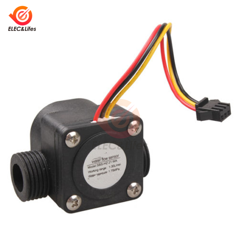G1 /2 4 Points Water Flow Sensor Hall Control Machine Flow Meter 1-30L/min 1.75MPa Water Level Sensor Control Switch