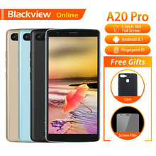 Blackview A20 Pro Original 5.5″ Smartphone 2GB+16GB Quad-Core Android 8.1 Fingerprint 18:9 Full Screen 3G Fashion Mobile Phone