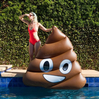 1.6m Giant Emoji Shit Pool Float Funny POOP Poo Shit Inflatable Pool Mattress Swimming Ring Adult Water Fun Toy Air Bed Lifebuoy