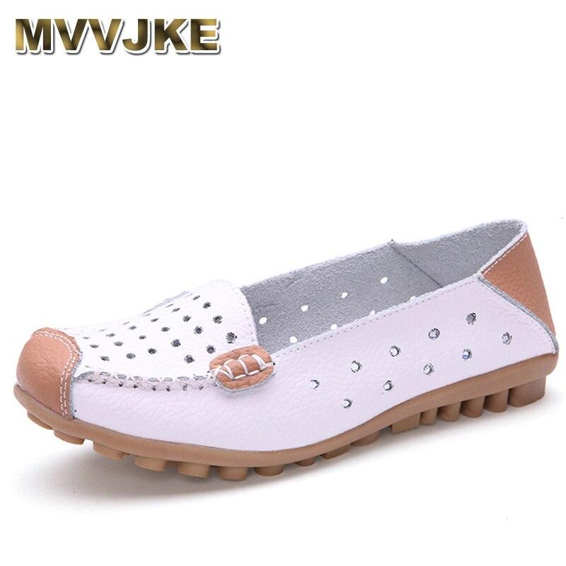 FleißIg Mvvjkewomen Der Weichen Leder Flache Beiläufige Schuhe Frau Atmungsaktive Hollowout Sommer Turnschuhe Schwangere Bequeme Flache Ferse Shoese207