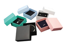 700g Hard Paper Customized Logo Box 7.5*7.5*3.5cm Wholesale 50cs/lot Necklace Pendant Ring Packaging Box Jewelry Gift Boxes