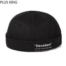 New Fashion Hip Hop Hat Without Brim for Men Women Melon Landlord Hat Black Wine Red Navy White Beanies Hooligan Skullies цена