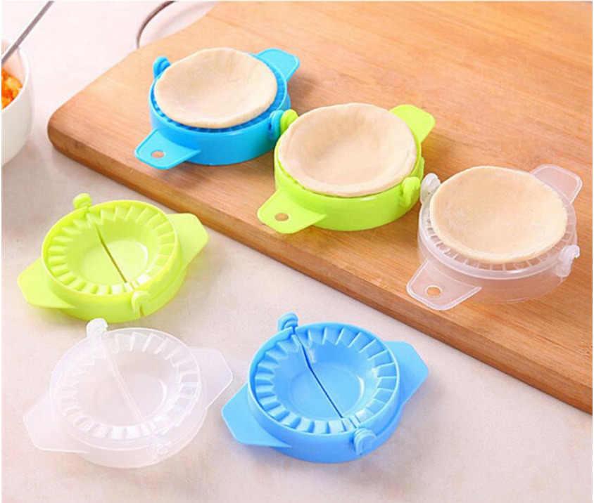 Nueva herramienta de cocina Dumpling Jiaozi Dispositivo de fabricante fácil DIY Dumpling molde para masa prensa empanada Dumpling molde de ravioles hojaldre Dumpling molde