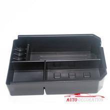 Для Toyota RAV4 2009 2010 11 12 13 14 15 16 2017 черный интерьер автомобиль-Стайлинг подлокотник коробка для хранения организатор Чехол 1 шт./компл. с коврик