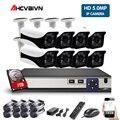 8CH 5MP POE NVR kit Câmera em/5.0MP Ao Ar Livre Câmera IP PoE Onvif FTP CCTV Sistema de Vídeo Gravação de Áudio kit de vigilância