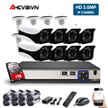 8CH 5MP POE NVR kit Telecamera in/Outdoor 5.0MP PoE IP Macchina Fotografica di Registrazione Audio Onvif FTP Sistema CCTV Video kit di sorveglianza