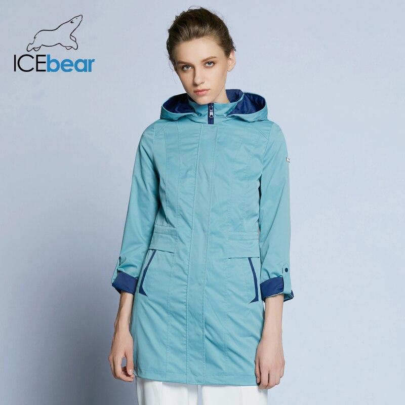 ICEbear 2019 femmes manteau de haute qualité printemps Trench manteau régulier pour les femmes coupe-vent chapeau détachable B17G116D