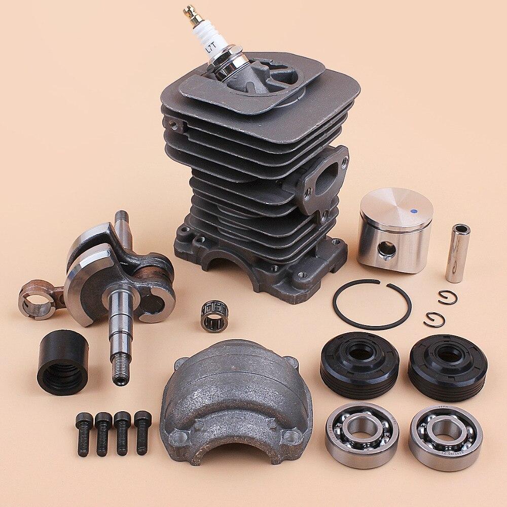 Chainsaw Piston Kit Gas For Engine Oil Spares 136 Cylinder Bearing HUSQVARNA 141 Seal 142 137 Crank 530069941 Crankshaft 40mm