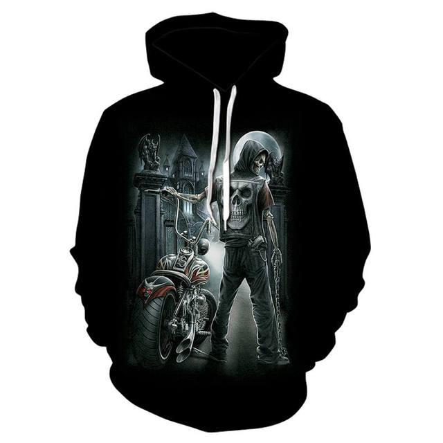 Sweatshirt Gothic Hip Hop 3D Printed Hoodie