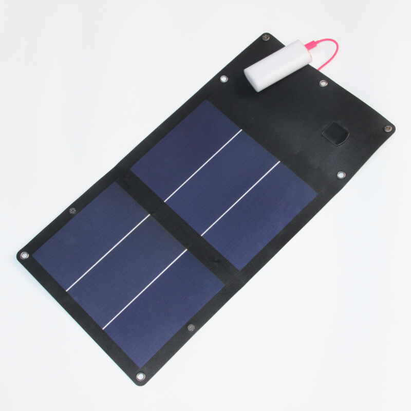 High Quality Flexible 6W Portable Solar Battery Charger for iPhone Foldable Solar Panel Charger Bag Waterproof