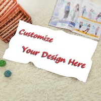 Luxury Print Personalized Image Custom Photo On Shower Bath Towel Washcloth Modern Simple Cool Beach Towel