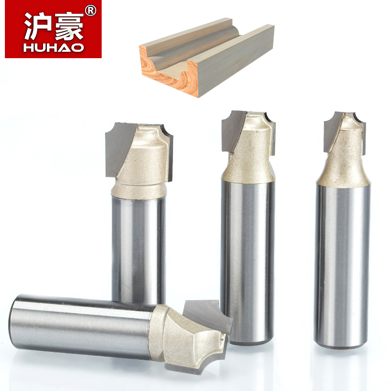 HUHAO 1pc 1/2 Shank Double Edging Router Bits For Wood Tungsten Carbide Flat Bottom Woodworking  Cutter CNC Tool Milling Cutter 1pcs round bottom engraving bit 1 2 1 4shank mdf wood tool cnc solid carbide milling cutter tungsten steel wood tool