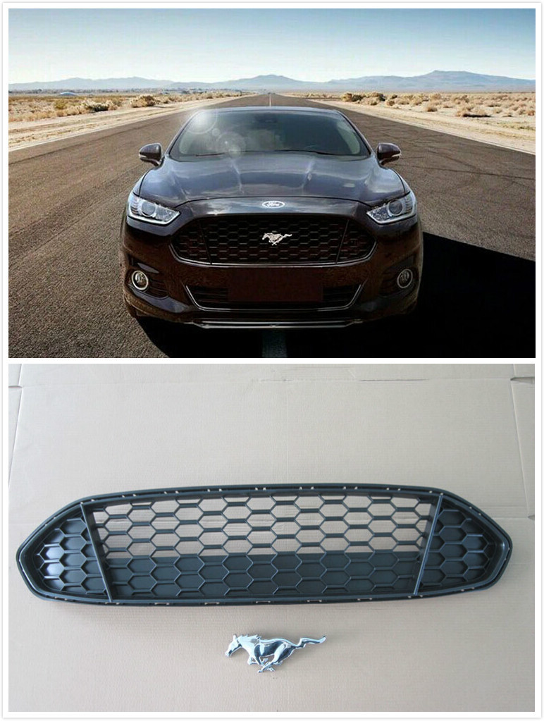 Front Grille Grill Bezel Honeycomb Mesh Cover for Ford Mondeo Fusion 2013 2014
