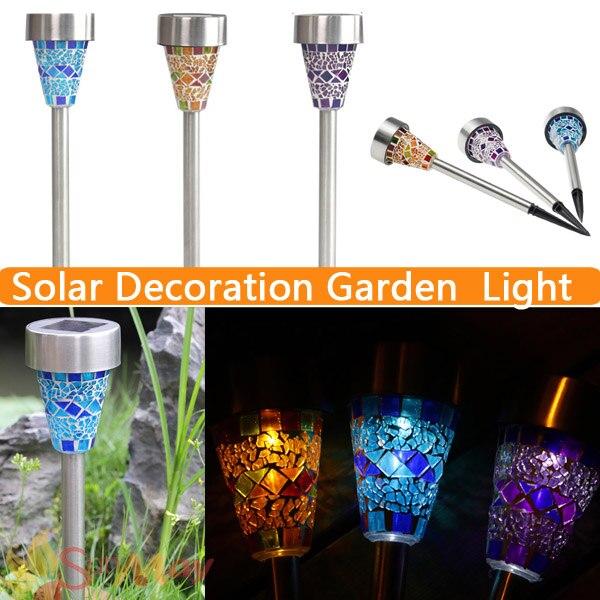 ФОТО Solar Glass Mosaic Lens Garden Lawn Stake Light Outdoor Garden Drcorative Path  Yard Stainless Steel Lamp Solar Lamp Luminaria