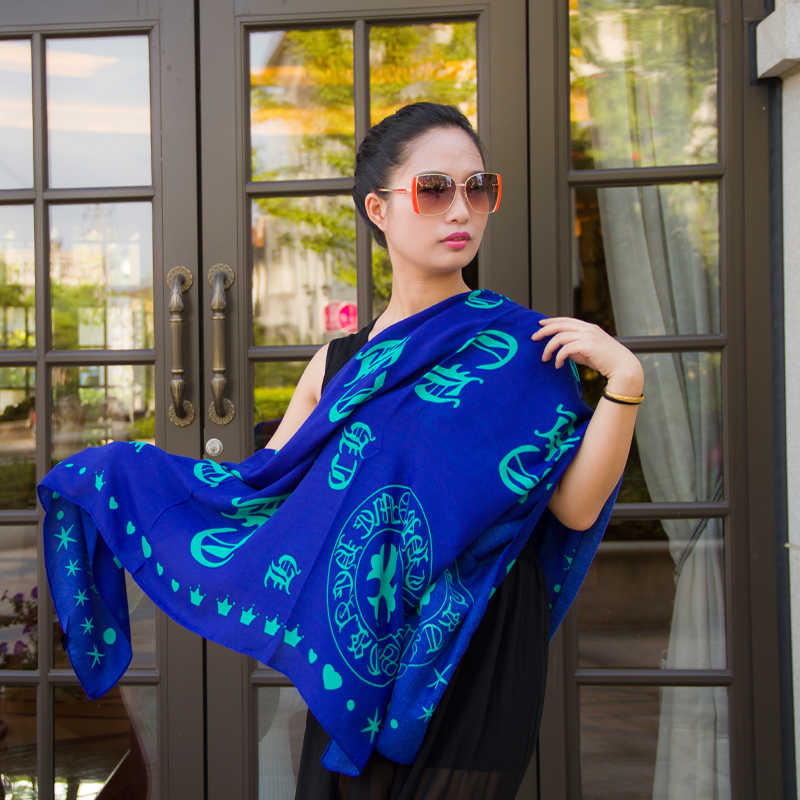 New women winter scarves cotton twill large square Korea dual air conditioning sunscreen shawl beach towel female