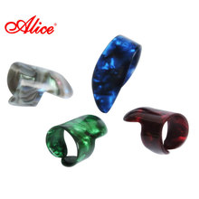 Alice Brand Pick 1 Thumb And 3 Finger Random Color Prevent Pain Quality Celluloid Thickness 1.50mm AP-100M&N