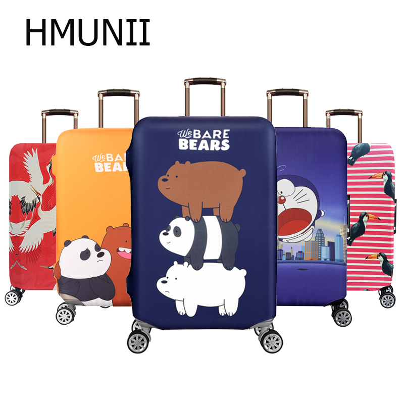 HMUNII Travel Luggage Suitcase Protective Cover Trolley Baggage Bag Cover Men's Women's Thick Elastic Case For Suitcase