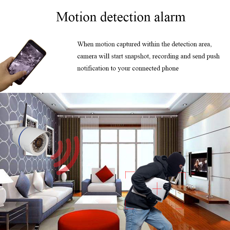 Image 4 - HD 1080P 2MP Audio Wireless IP Camera WiFi 720P Outdoor Night Vision CCTV Camera Surveillance Security Waterproof Onvif Camera-in Surveillance Cameras from Security & Protection